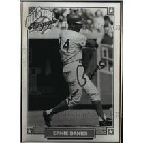 1993 Press Photo Chicago Cubs Shortstop Ernie Banks Card - mja67744