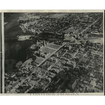 1928 Press Photo Aerial View of Parliament Building in Ottawa Canada - mja68932