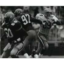 1993 Press Photo Green Bay Packers Tight End Mark Chmura - mja68959