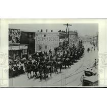 1904 Press Photo Barnum & bailey Circus paraded a 40-horse hitch - mja69107