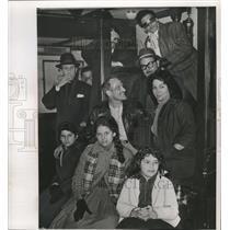1961 Press Photo Family of Pedra Miranda, Anti-Castro refugees, in New York