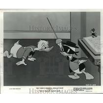 "1977 Press Photo Donald Duck and nephews in ""This is Your Life, Donald Duck"""