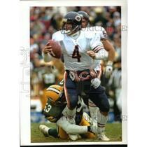 1993 Press Photo Green Bay's George Koonce sacks Chicago Bears' Jim Harbaugh