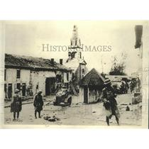 1901 Press Photo Village showing grim evidence of the hard battle in Exermont