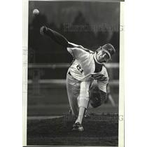 1988 Press Photo Mead baseball players, Geoff Kellog, in GSL action - sps06483