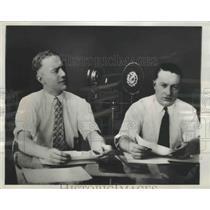1928 Press Photo Freeman Gosden and Charles Correll on Chicago's WMAQ