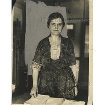 1922 Press Photo Katherine Lenroot of Children's Bureau U.S. Labor Department