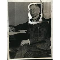 1929 Press Photo General Jacob Sechler Coxey Leads Ohio Unemployment March