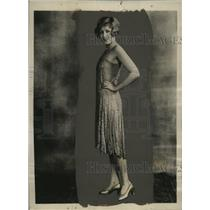 1928 Press Photo Blanche Le Claire in clingy evening gown for winter season