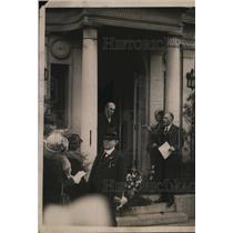 1922 Press Photo Pres & Mrs. Woodrow Wilson's home visitors on Armistice Day
