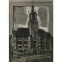 1918 Press Photo Stuttgart City, Germany Town Hall - neo11666