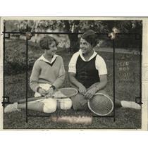 1924 Press Photo Clara Louise Zinke & Olga Strashin, Tennis Players - neo12010