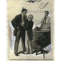 1929 Press Photo Illustration from Cappy Ricks Shows - neo13342