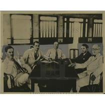 1933 Press Photo Cuban Control Commission after Revolution - neo13455