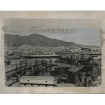 1941 Press Photo Genoa, Italy: a iew of the Harbor at Genoa After British Attack