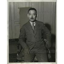 1933 Press Photo Yosuke Matsuoka, Chief Japanese Delegate to League of Nations