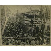 1924 Press Photo Anti-American Demonstration in Sano Park, Tokyo, Japan