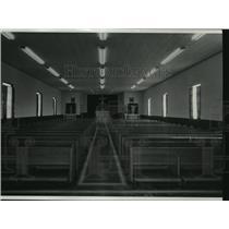 1953 Press Photo Interior of a church in DeSmet, Idaho  - spa65142