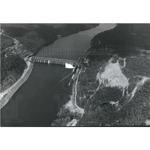 1971 Press Photo Alabama-Aerial view of existing John H. Bankhead Lock and Dam