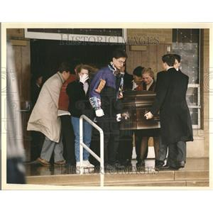 1993 Press Photo Michael Castro's funeral,Palatine - RRV43797