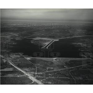 Press Photo Aerial View of Calaveras Lake, 15 Miles Out Highway 181 South