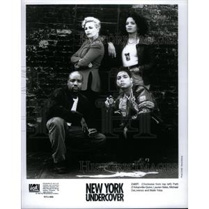 1996 Press Photo Cast of New York Undercover. - RRX57831