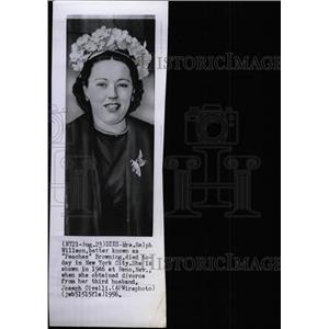 1956 Press Photo of 1946 Photo Peaches Browning/Actress - RRW78405