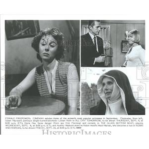 1982 Press Photo Hayward Day Hepburn Cry Boat Robin - RRV28751