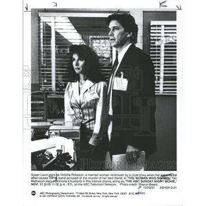 1991 Press Photo Susan Lucci Tim Matheson star Woman - RRW29317