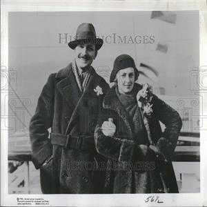 1960 Press Photo Frederic March Florence Eldridge - RRV27917
