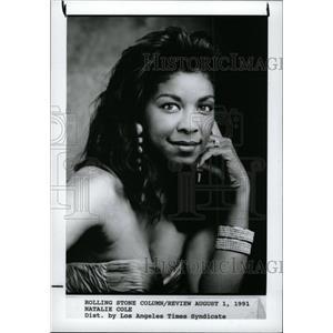 1992 Press Photo Natalie Cole singer - RRW96941