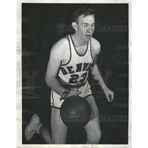 1950 Press Photo Dick Gray University Denver Dribbling - RRQ00129