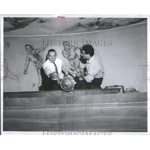 1959 Press Photo Stephen Paul Davis Artist - RRQ01493