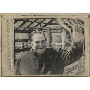 1971 Press Photo Joe McCarthy celebrating 84th b-day - RRQ01693
