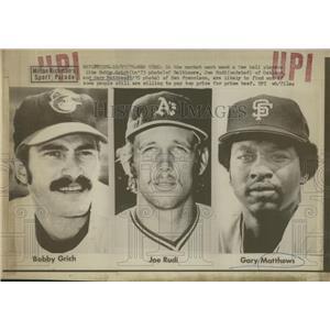 Press Photo Baseball Grich Rudi Matthews - RRQ01759