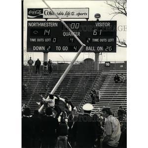 1951 Press Photo Universities Northwestren Football NU - RRQ02811