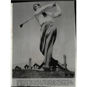 1936 Press Photo Victor J Ghezzi Golfer Ray Mangrum - RRQ03257