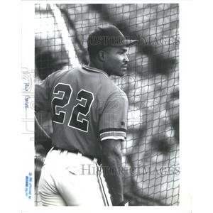 Press Photo Milton Cuyler Major League Outfielder - RRQ03509