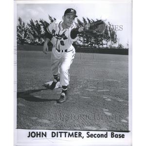 1957 Press Photo John Dittmer Player - RRQ04203