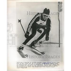 1967 Press Photo Nancy Greene Glides Switzerland - RRQ04631