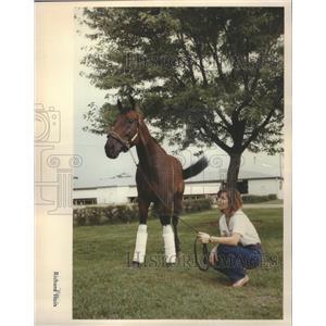 1990 Press Photo Race Horse Arlington Race Course - RRQ05031