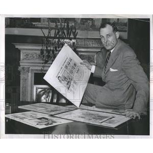 1955 Press Photo Michigan State HOF HB John Pigel - RRQ05537