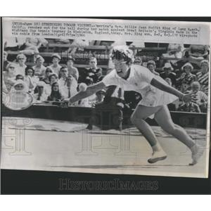 1966 Press Photo Billie King Wightman Cup Wimbledon - RRQ05579