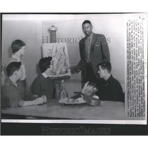 1959 Press Photo Bob Boozer New York Knicks - RRQ05937