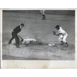 1956 Press Photo Piersall Red Sox Avila Indians - RRQ08783