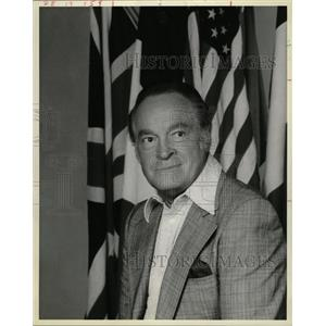 1987 Press Photo Bob Hope US Armed Force American KCSG - RRW11277