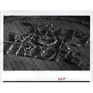 1991 Press Photo Persian Gulf War Valentine Message - RRX79435