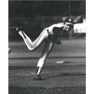 1981 Press Photo Joliet Catholic Pitcher Mark Grant - RSC29665