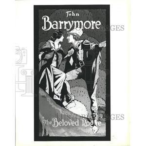 1987 Press Photo John Barrymore Beloved Rogue Poster - RRW38621