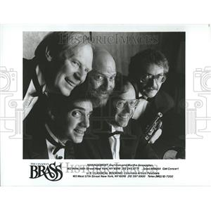 1987 Press Photo Canadian Brass Quintet Dr. Daellenbach - RRV81547